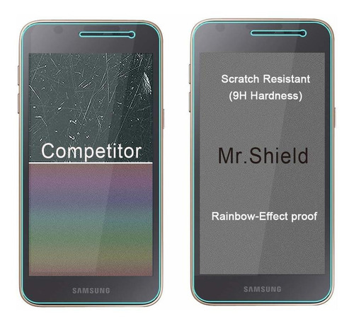 3-pack - mr.shield para samsung galaxy j2 dash templado gla