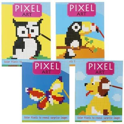 3 Pack Pixel Art Coloring Book Tiene Píxeles Para Colorear