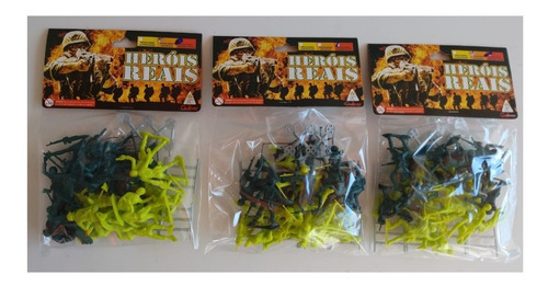 3 pacotes heróis reais gulliver soldados americanos