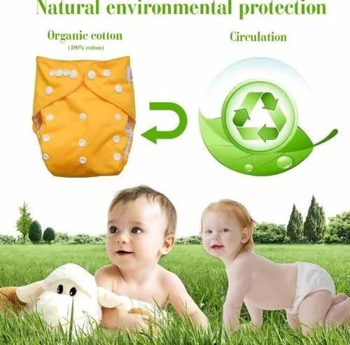 3 pañales ecologicos ajustables y reutilizables + envio grat