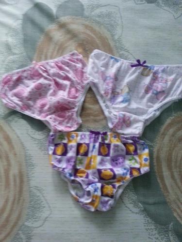 3 pantaletas niña talla 12 ropa colegio, navidad