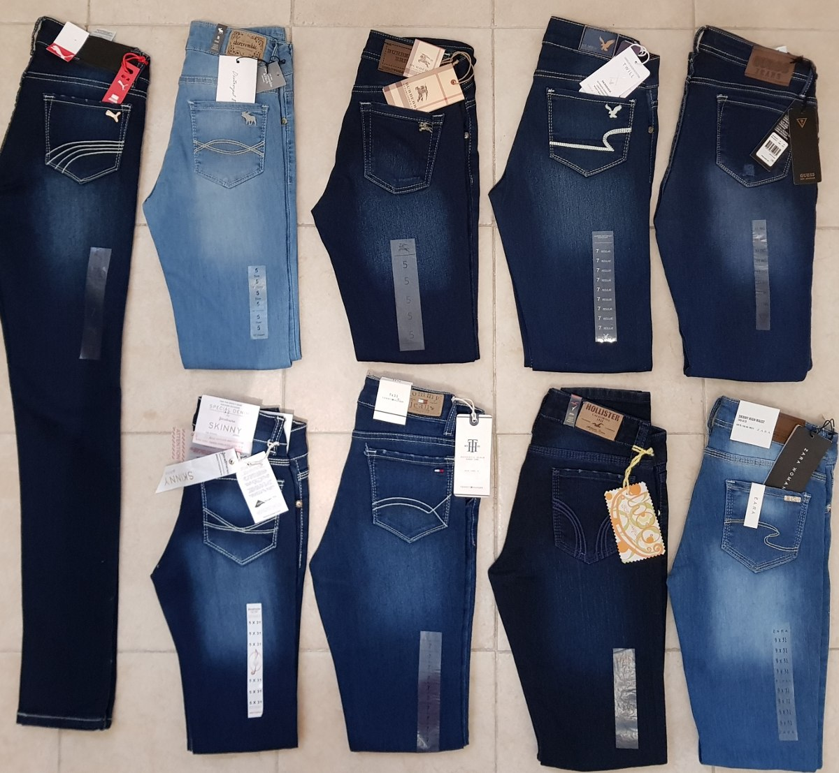 3 pantalones dama hollister guess aeropostale levis tommy 999 00