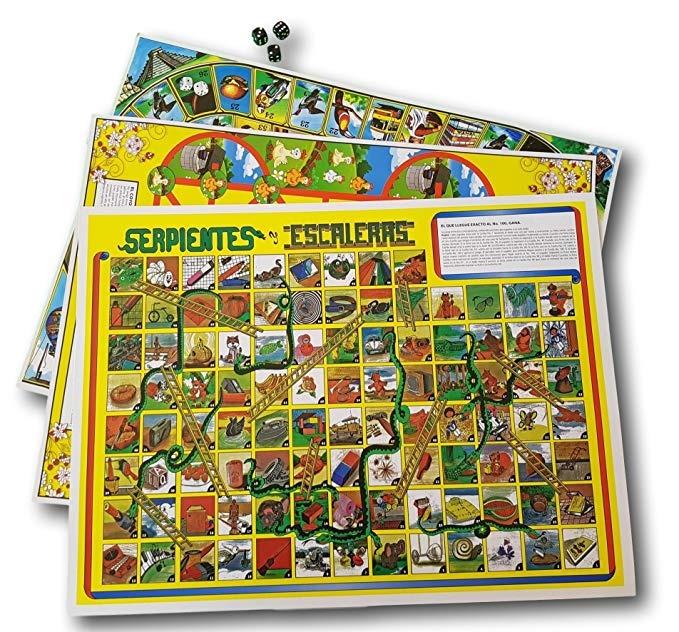 3 Paquete Juegos De Mesa Mexicana 1 Serpientes Y Escaleras
