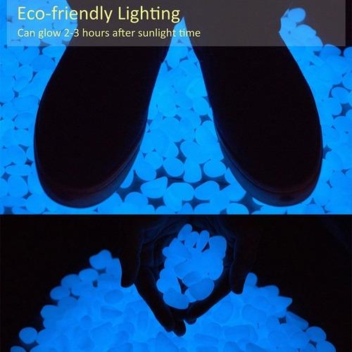 3 paquetes 100 piedras luminosas fluorescentes envío gratis