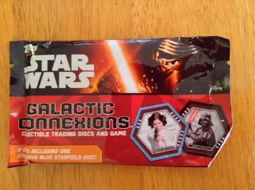 3 paquetes con fichas star wars galactic connections topps
