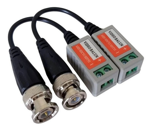 3 pares de balun de vídeo ahd/cvi/tvi rabicho conector borne