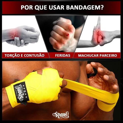 3 pares de bandagem atadura elástica spank 3 metros amarela