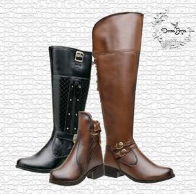 9b1ce4e0fe Bota Over Baixa Feminino Botas - Sapatos no Mercado Livre Brasil