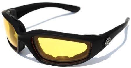 3 pares de choppers gafas marco acolchado claro amarillo smo