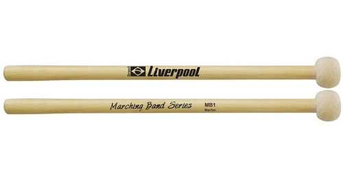 3 pares maçaneta para bumbo marching band liverpool bf mb1
