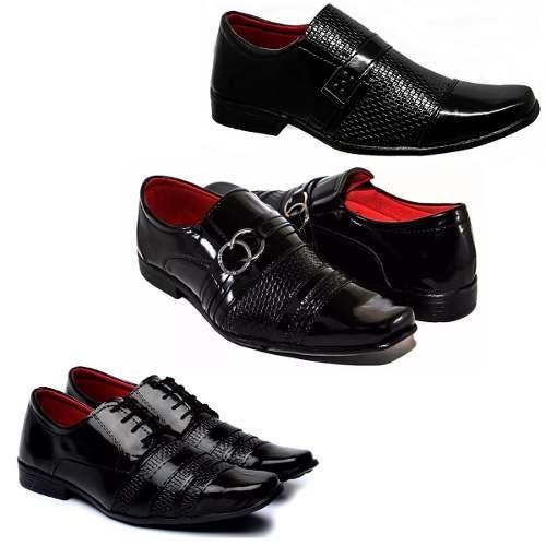 48e8776e7f 3 Pares Sapatos Sociais Masculino Promoção Frete Grátis! Fb - R  153 ...
