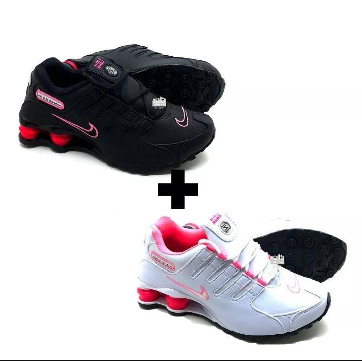 3 Pares Tenis Original Nike Shox Nz Feminino