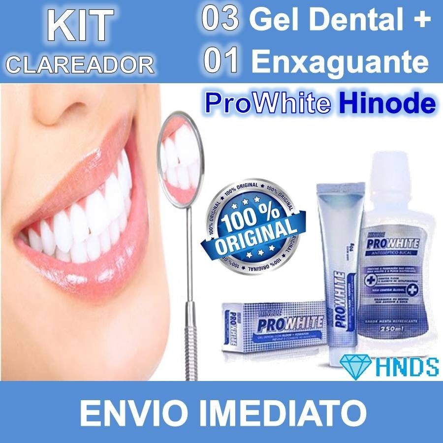 Beauty Kit Com 5 Gel Dental Clareador Hinode Pro White 90g R 4800 Em