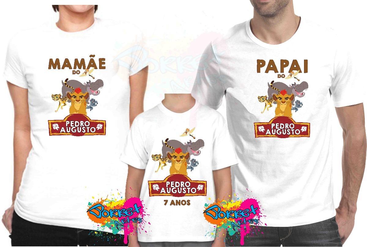 23e37896e 3 pçs camisa camiseta personalizada festa a guarda do leão. Carregando zoom.