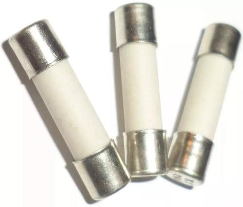 3 pçs fusível cerâmico microondas (6x30) 12a 250v