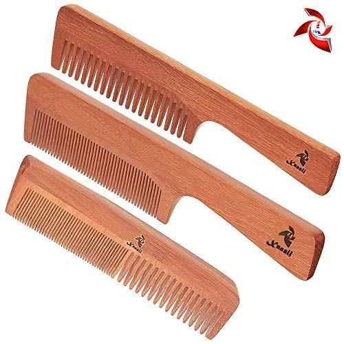 3 Pcs Mens Comb Fine Teeth Wooden Hair Comb Detailer For Fin