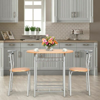 3 Pcs Modern Dining Table Chair