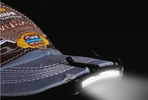 3 peças led p/ chapéu, boné, pesca, caminhada e camping