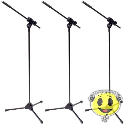 3 pedestal microfone ibox similar rmv suporte - kadu som