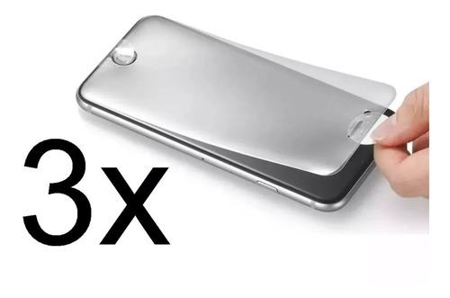 3 películas hidro gel iphone 5 6 6p 7/8 7/8p x xr xs max f g