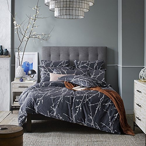 3 piece duvet cover and pillow shams bedding set, 100% cott