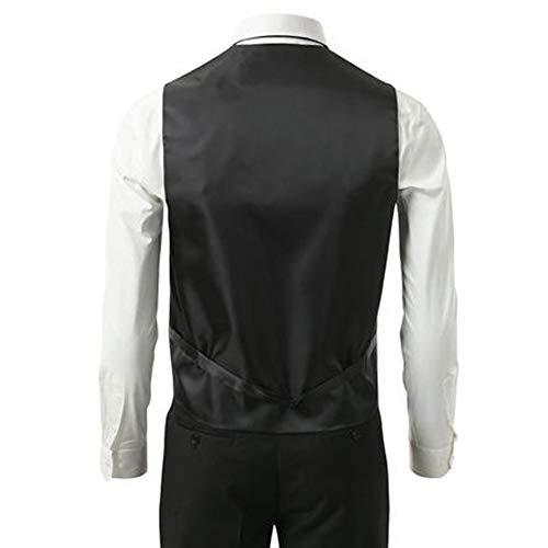 3 piezas chaleco corbata pañuelo para hombre de moda traje
