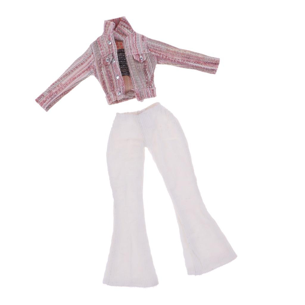 3 Piezas De Abrigo De Moda Refuerza Top Y Pantalones Blanco ... f977c13287e2