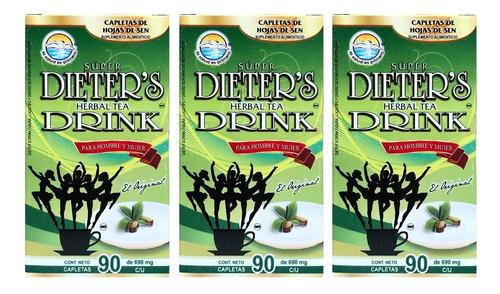 (3 piezas) dieters drink (90 caps) la salud es primero