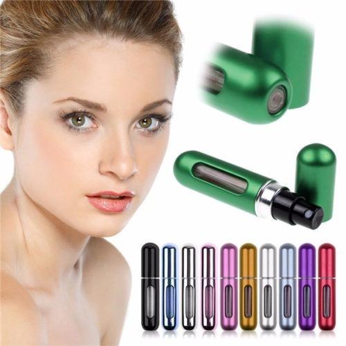 3 piezas mini perfumero atomizador recargable 5 ml colores