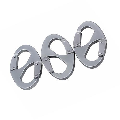 3 piezas mosquetón en forma 8 conector accesorios