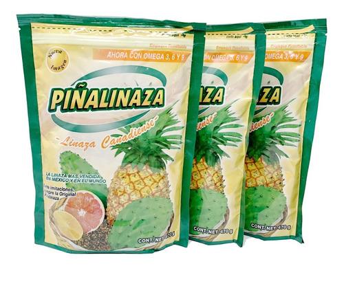 (3 piezas) piñalinaza  linaza de canada en polvo 470gr