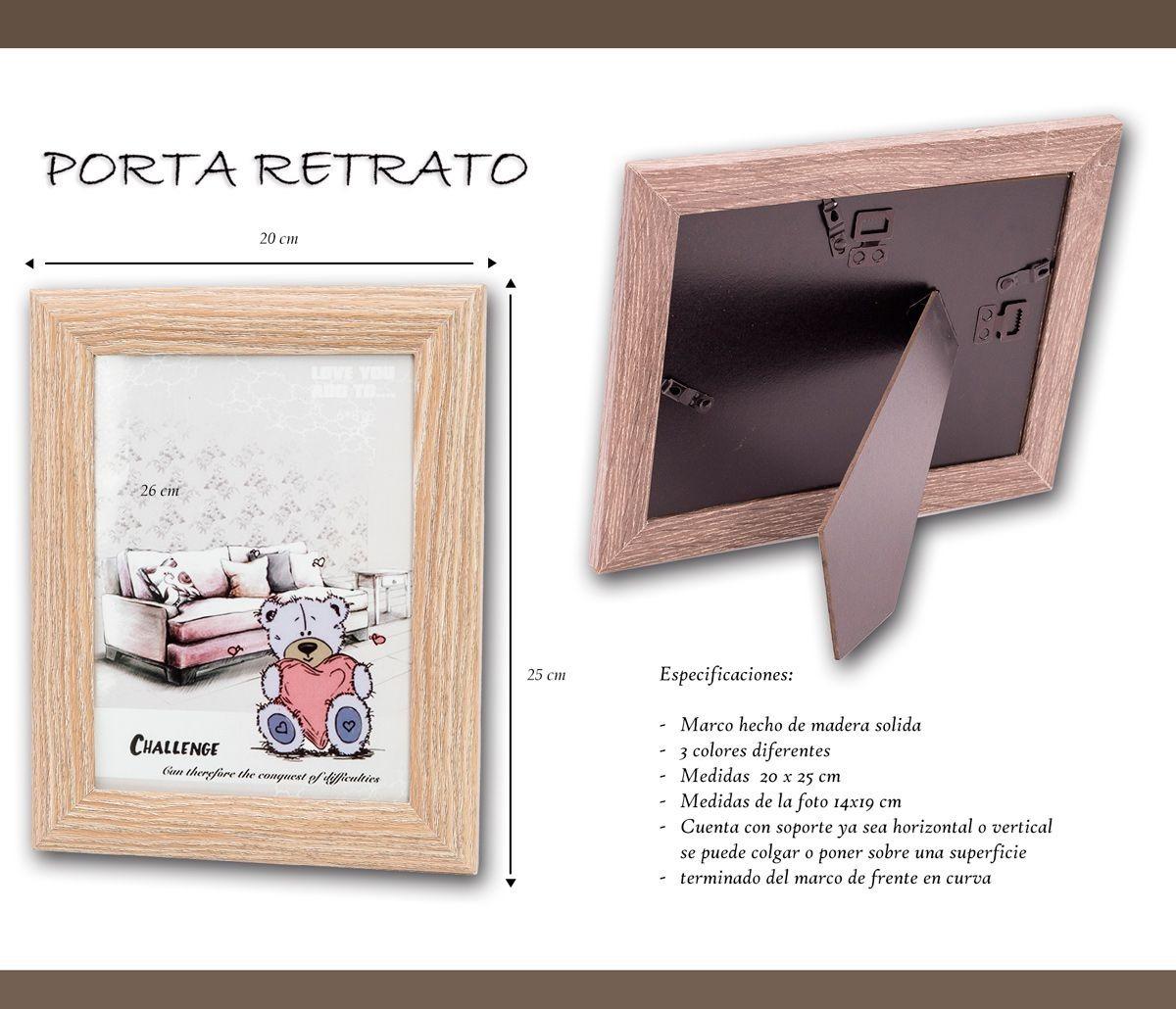 3 Piezas Portaretratos De Madera 6x8 M-022 Babyshowe Hogar ...