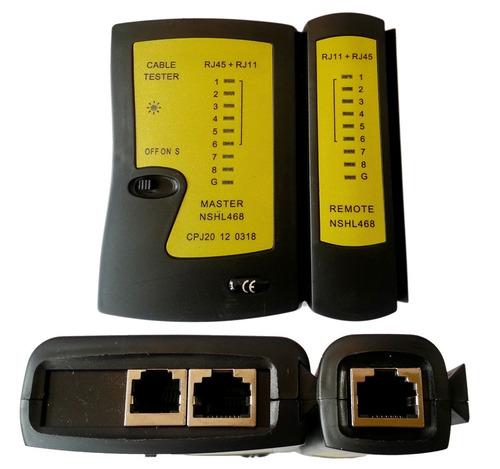 3 piezas probador cables rj45 rj11 redes teléfono datos