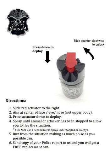 3 piezas spray de gas pimienta lacrimogeno defensa 21grs