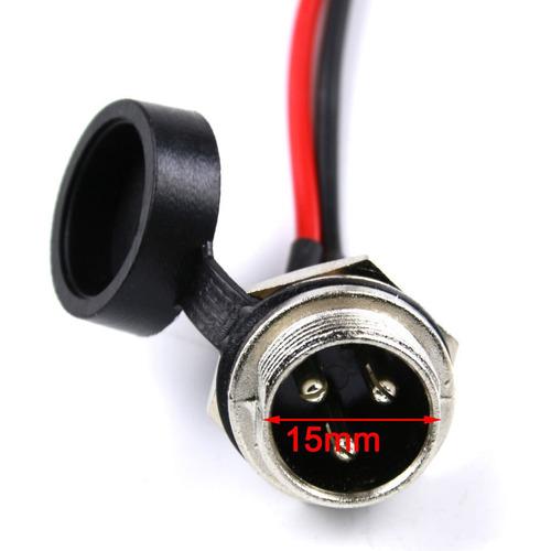 3 pin conector jack conector para batería cargador razor