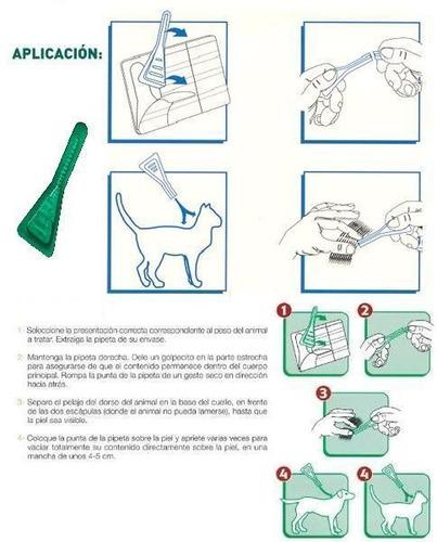 3 pipetas frontline anti pulgas gato 3 kg - envio gratis
