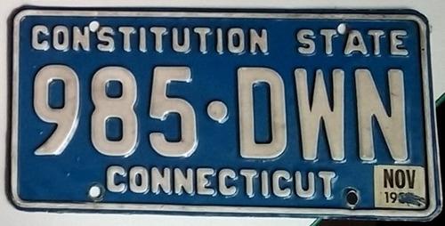 3 placas americanas de automovil originales