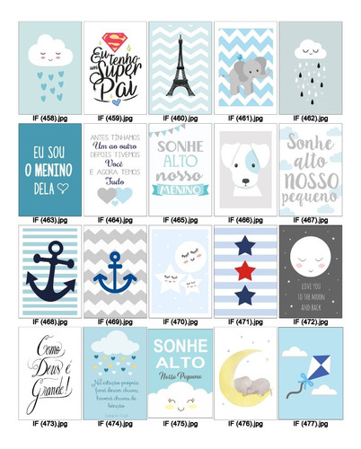 3 placas decoração infantil quarto bebe nuvem chuva de amor