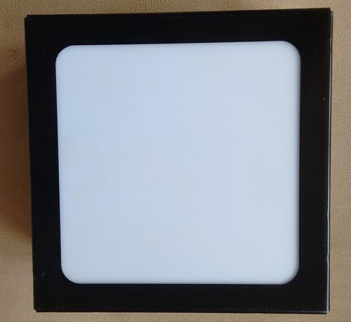 3 plafons de sobrepor  preto  50x50x8 acrílico leitoso.