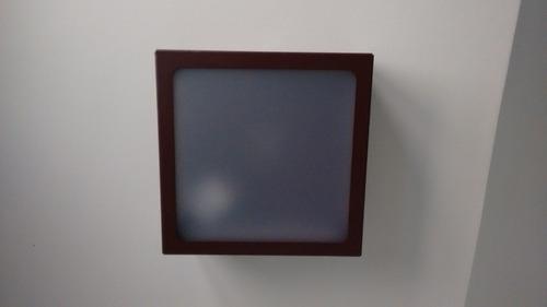 3 plafons sobrepor quadrado marrom 30 x 30 acrílico leitoso