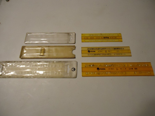 3 plantillas de letrografos rotring y pizzini