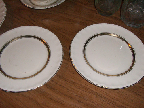 3 platos de loza,inglesa grindley 2 de postre !!oferta!