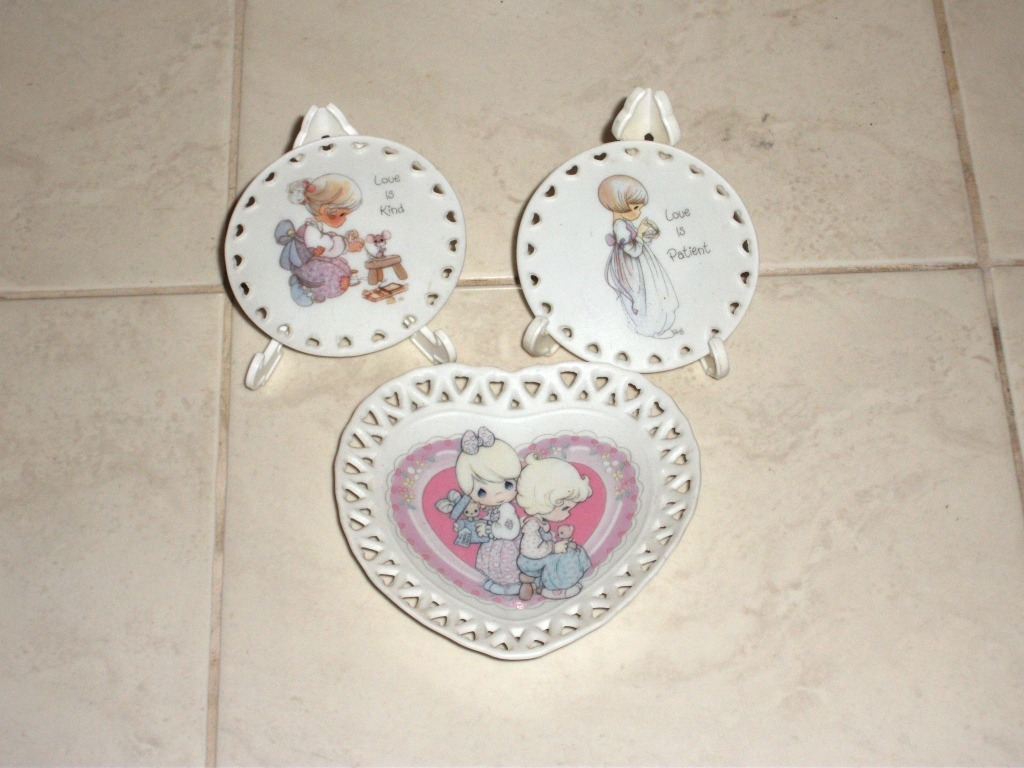 3 platos de porcelana precious moments en for Platos porcelana