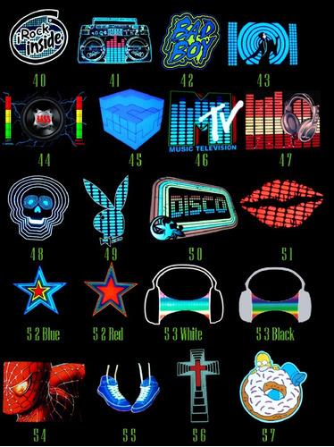 3 playeras led camisa luminosa audio rítmica led dj ironman