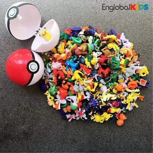 3 pokeballs + 3 figuras pokemon aleatorias pikachu omega