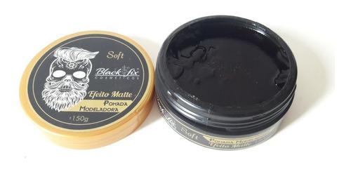 3 pomadas teia + 3 matte black fix soft 150g