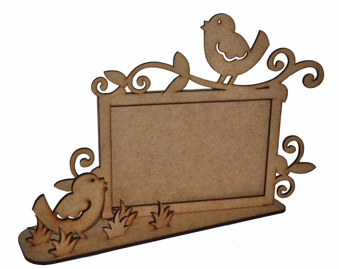 3 porta retrato em mdf cr passarinhos lembran a for Decoracion en mdf para pared