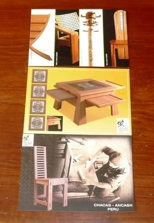 3 postales artesanos don bosco perú exposición mueble madera