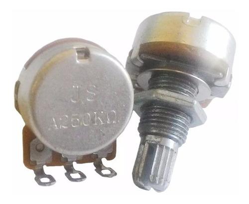 3 potenciômetro vl1718h logarítmico a250k 18mm spirit