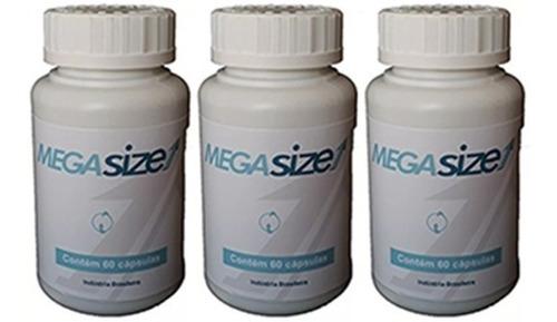3 potes mega extrasize estimulante  vigor + energia promoção